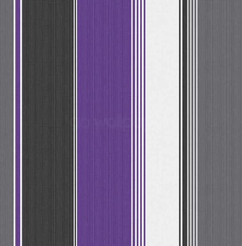 Debona Stripe Purple Black Silver Wallpaper   Sample 786x800