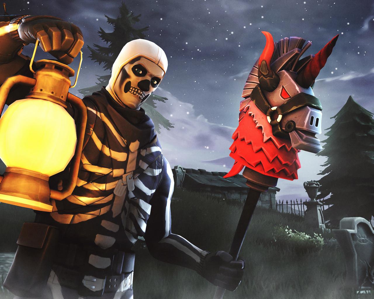 1280x1024 Skull Trooper Fortnite Season 6 4K 1280x1024 Resolution 1280x1024