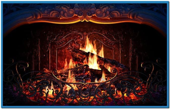 Fireplace 3d screensaver and animated wallpaper 2008   Download 673x431