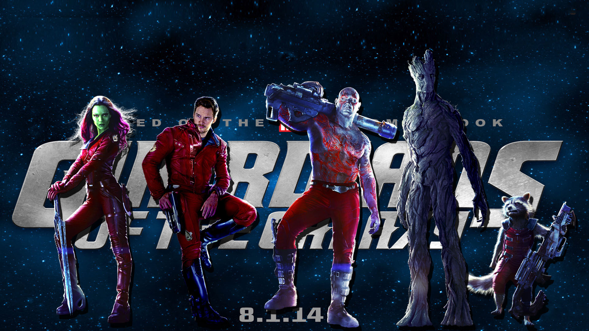 Free Download Guardians Of The Galaxy Movie Wallpaper 1920x1080