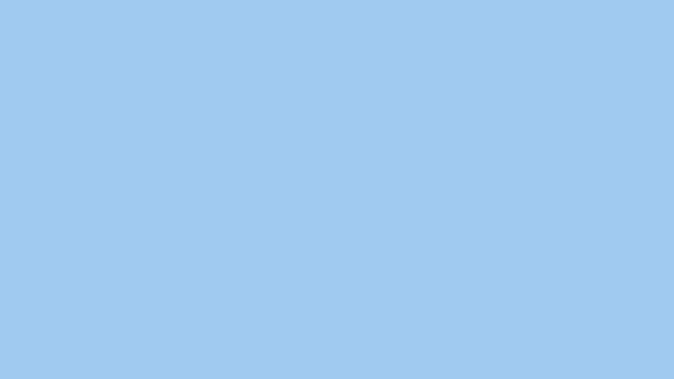 2560x1440 resolution Baby Blue Eyes solid color background view 2560x1440
