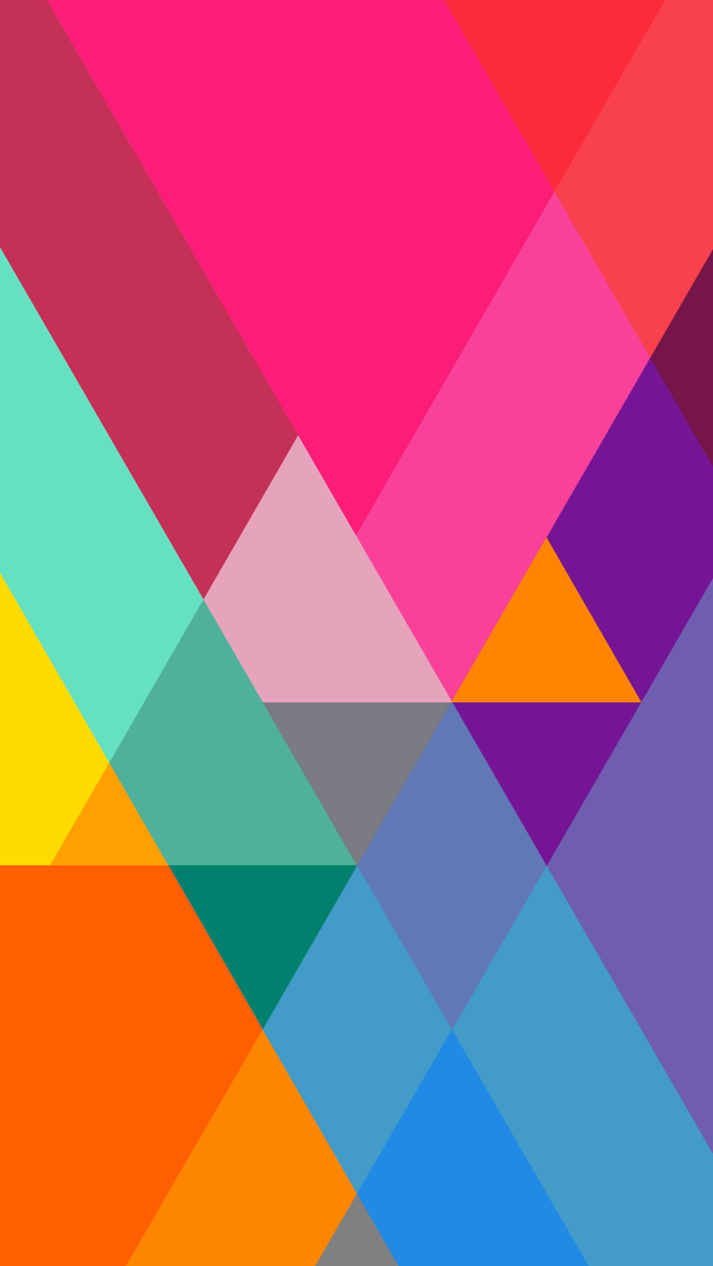 Flat Color Gradient Triangles Wallpaper - Free iPhone Wallpapers
