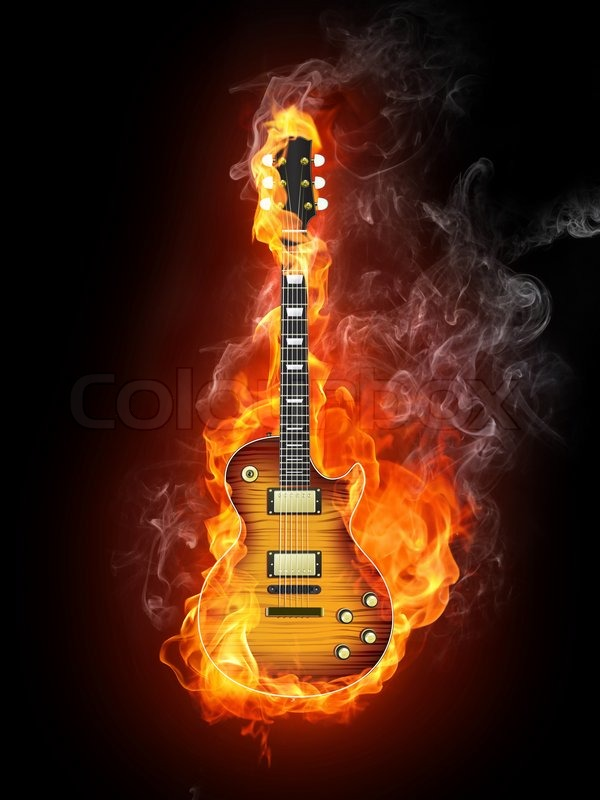 38 Guitar On Fire Wallpaper On Wallpapersafari