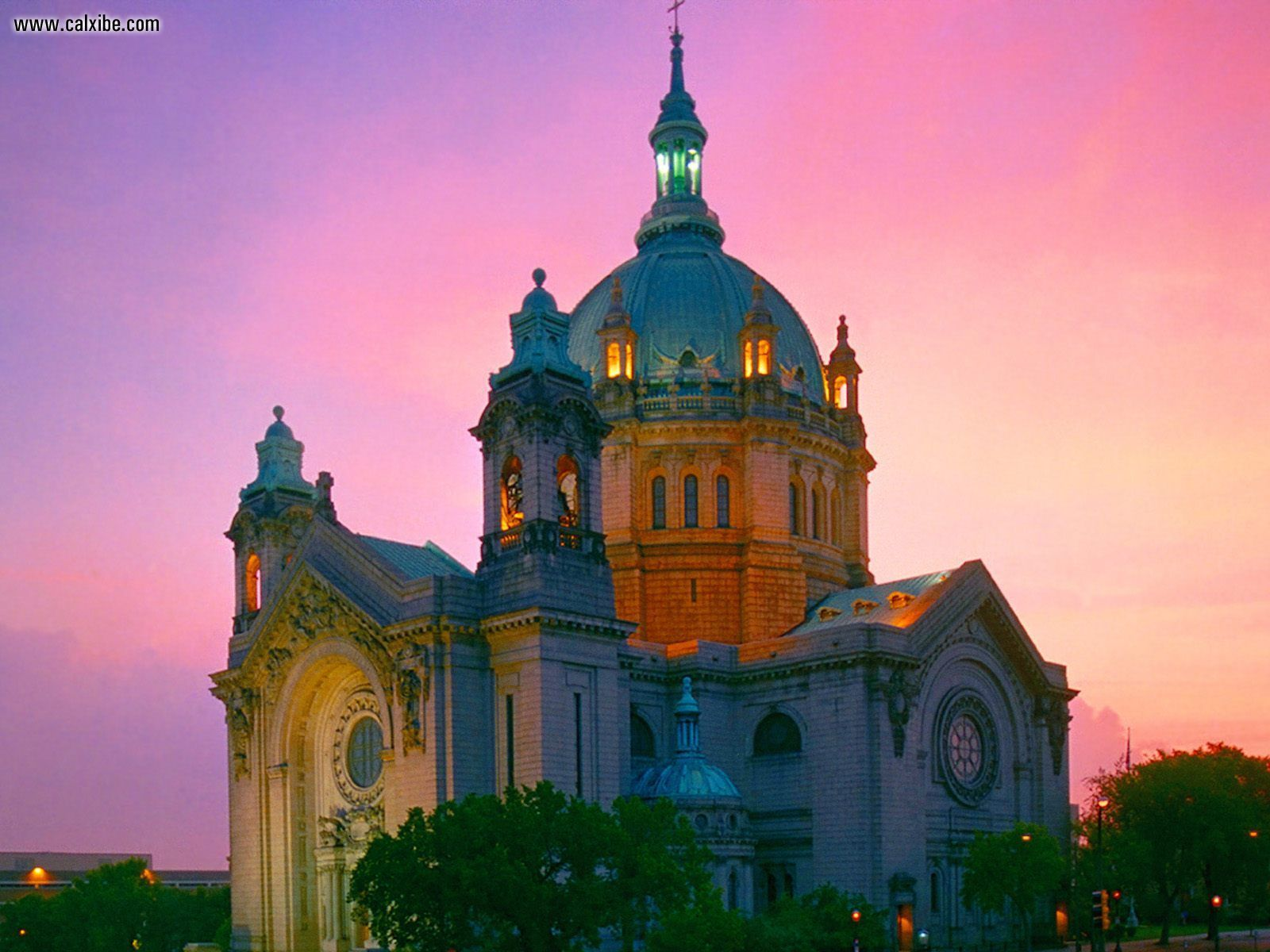 City Cathedral of Saint Paul Minnesota desktop wallpaper nr 1600x1200