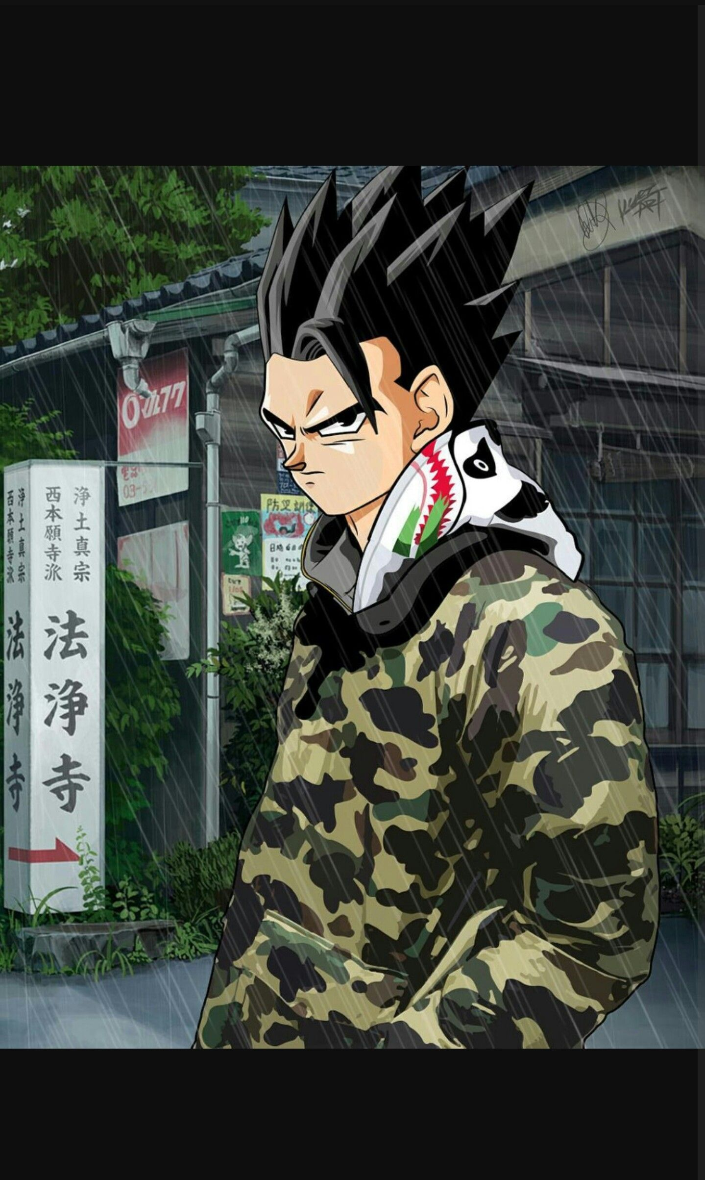 GOHAN BAPE SUPREME Dragon Ball Z tamas in 2019 Art Dragon 1439x2407