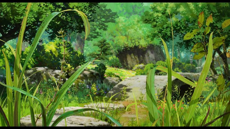 Nature Anime Scenery Background Wallpaper Anime Backgrounds 736x414