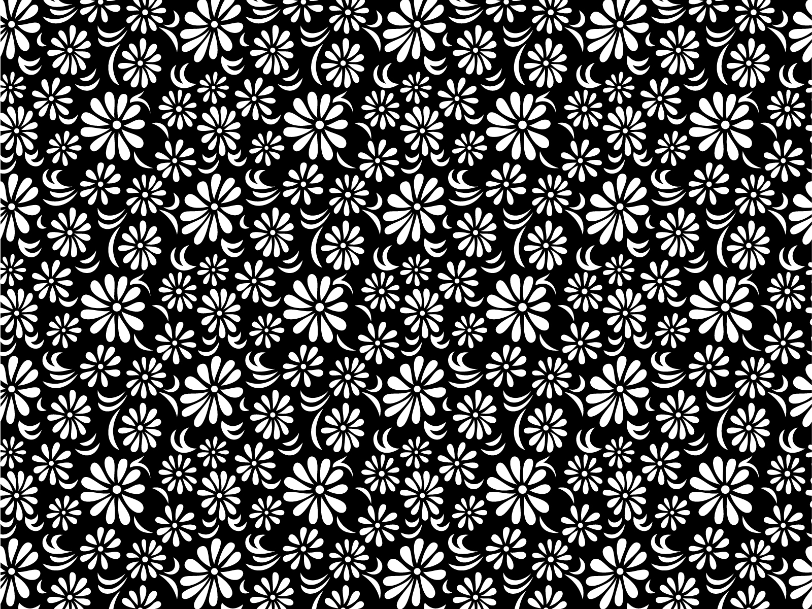 Black and White Floral Wallpaper Desktop h752080 1600x1200