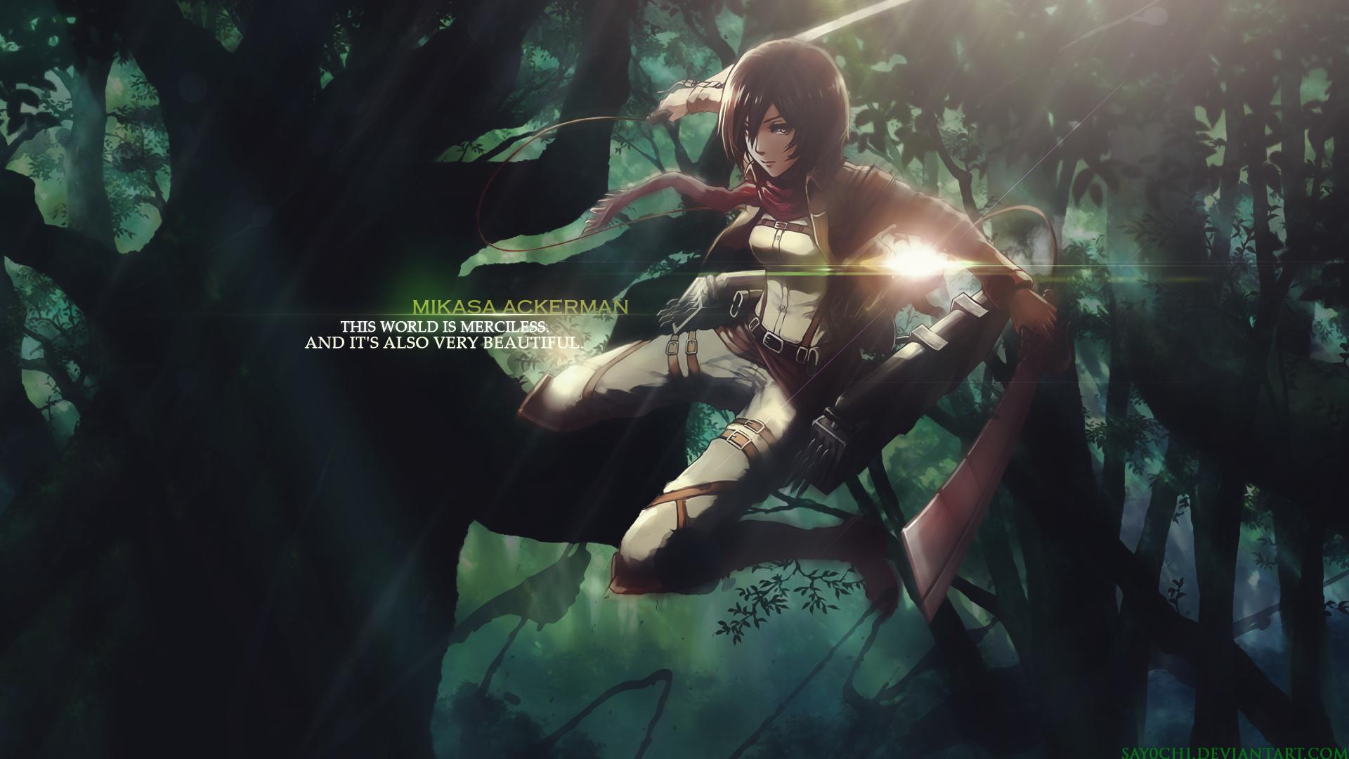 Mikasa Ackerman   Shingeki no Kyojin Attack on titan Wallpaper 1920x1080