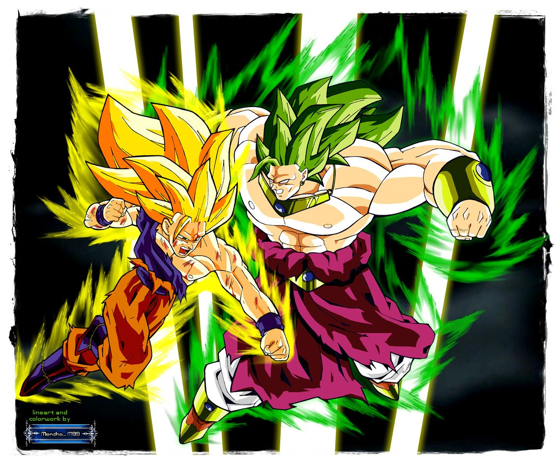 Goku Vs Broly Wallpaper Wallpapersafari