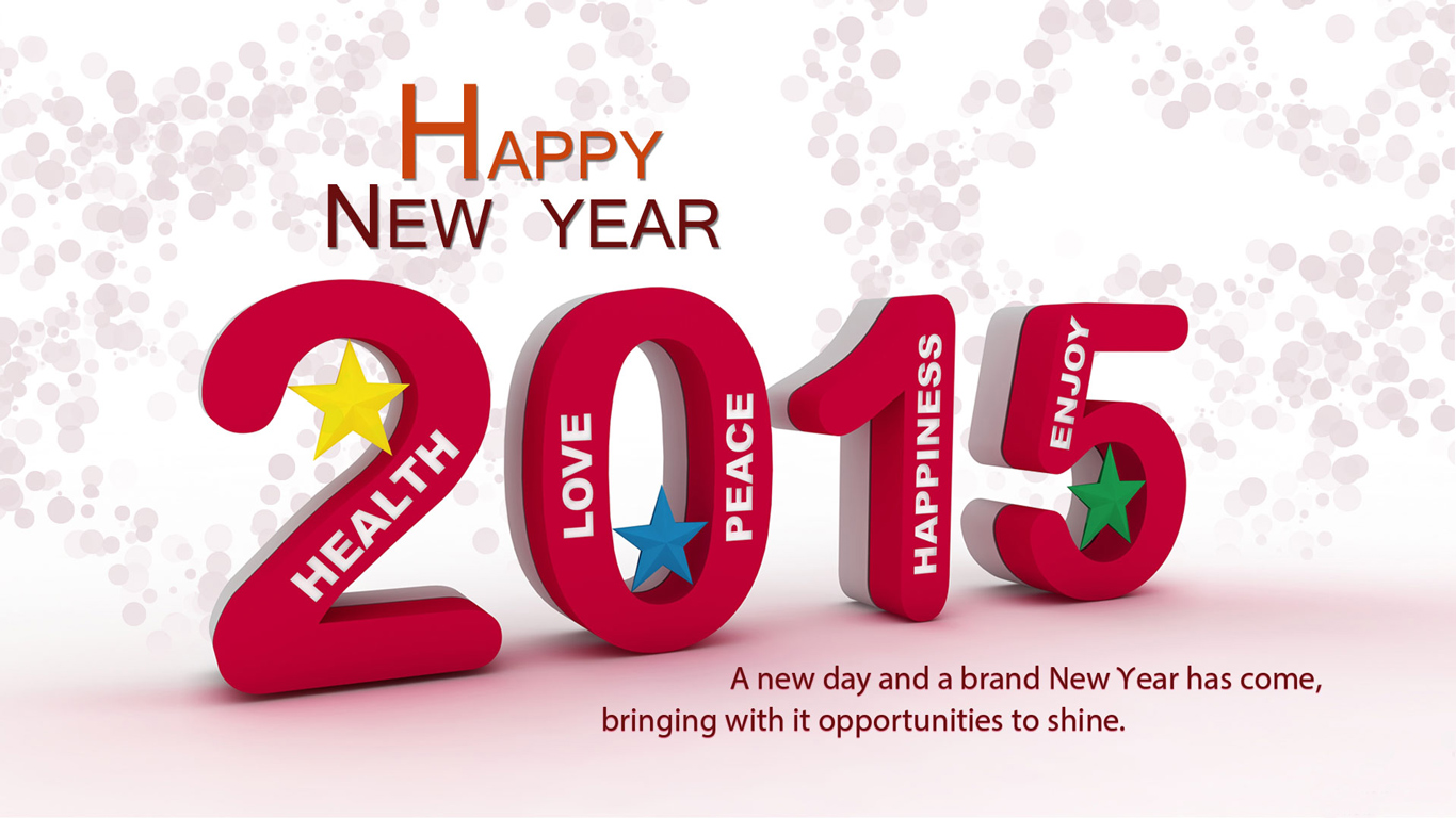 Wallpaper download new year 2015 - Happy New Year 2015 Wallpaper 1366 768 Wallpapers 1366x768