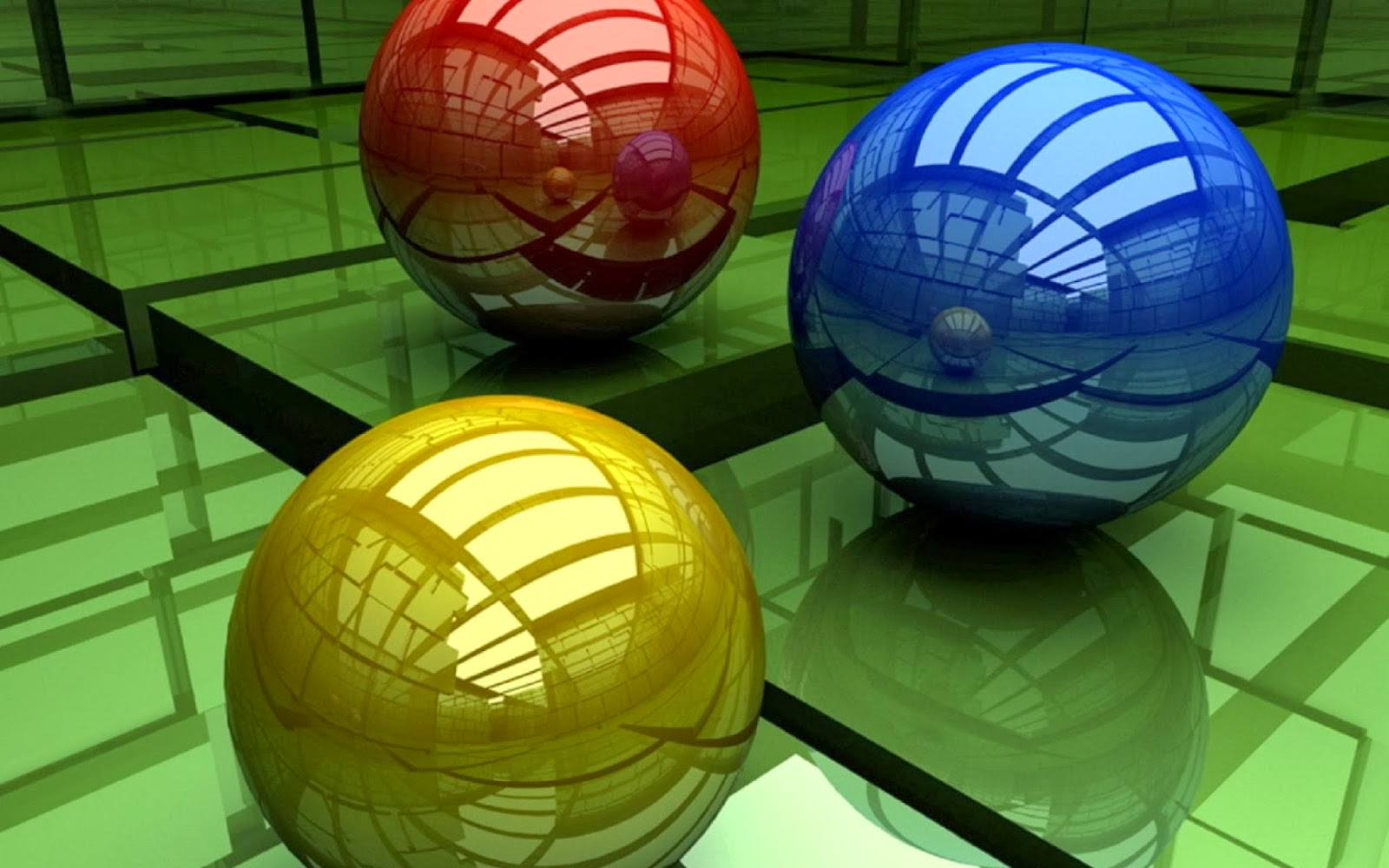 Best Laptop Wallpaper   3D Balls 1600x1000