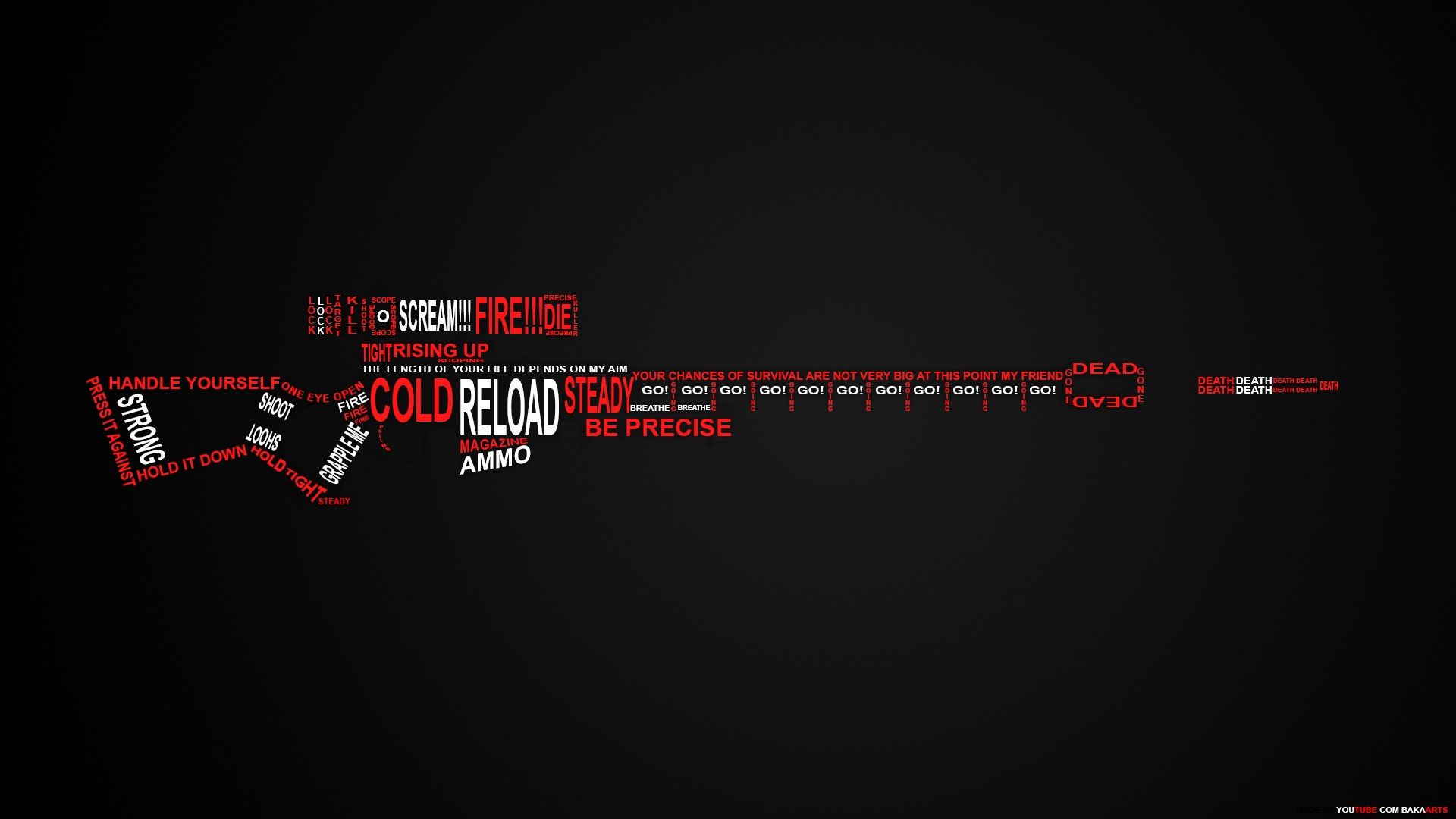 Rifle Sniper Rifle Typography text military weapons guns warrior dark 1920x1080