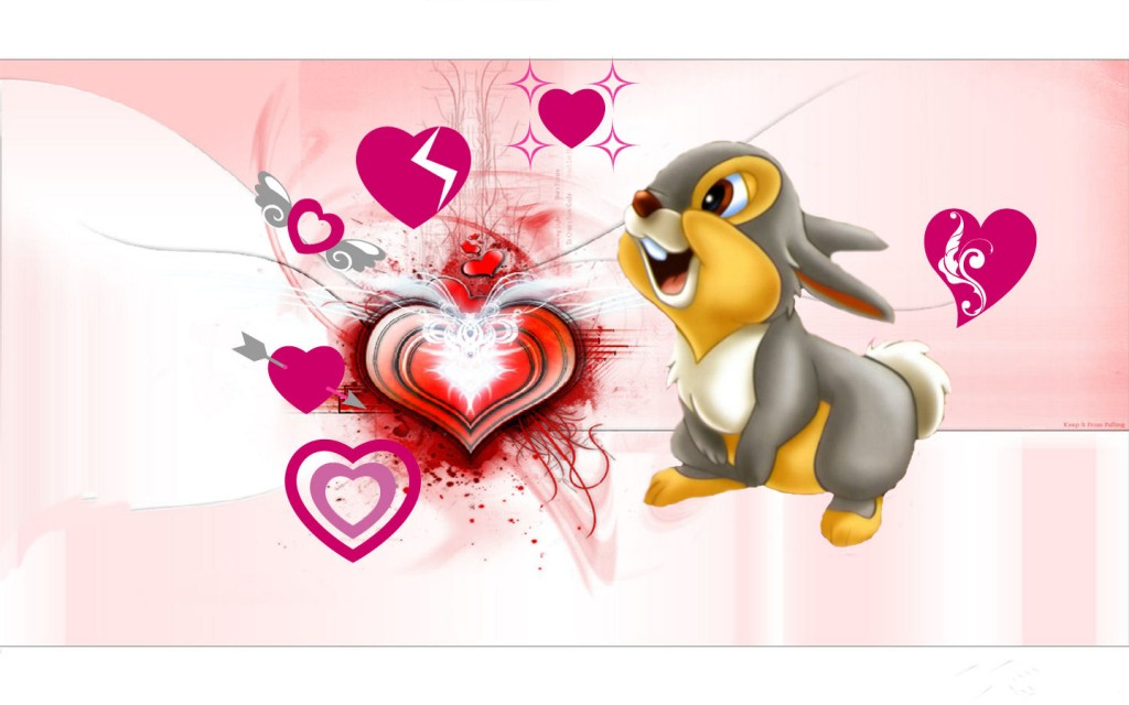 Cute Rabbit Valentines Day Wallpaper photos Romantic Disney Walentine 1024x640
