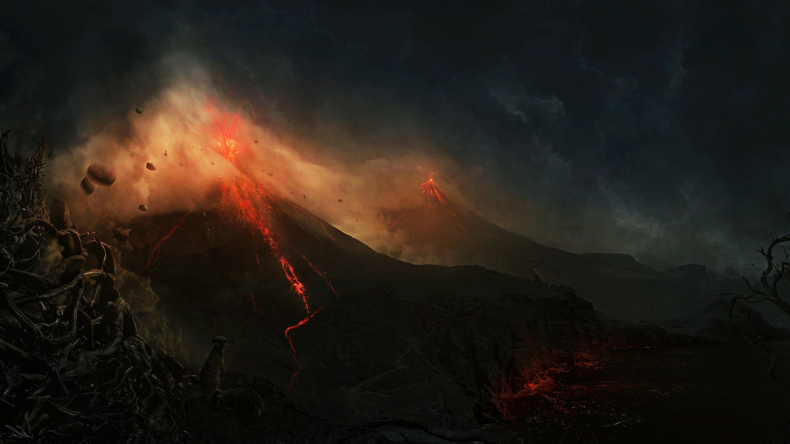 volcano eruption wallpaper hd - photo #9