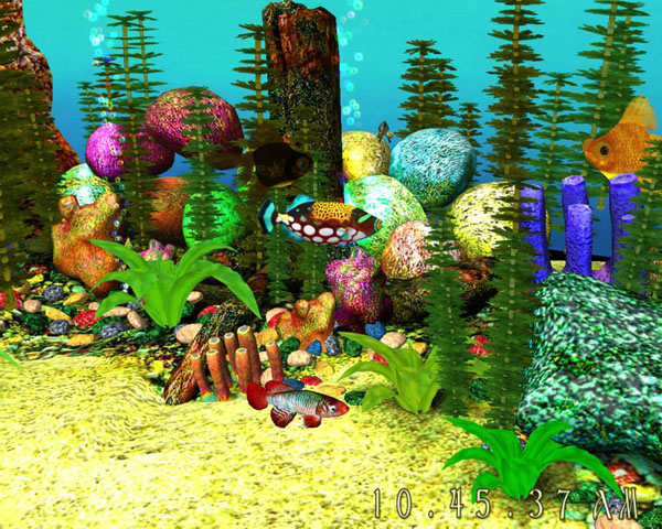 3D Aquarium Screensaver Descarga Alternativas SereneScreen 600x480
