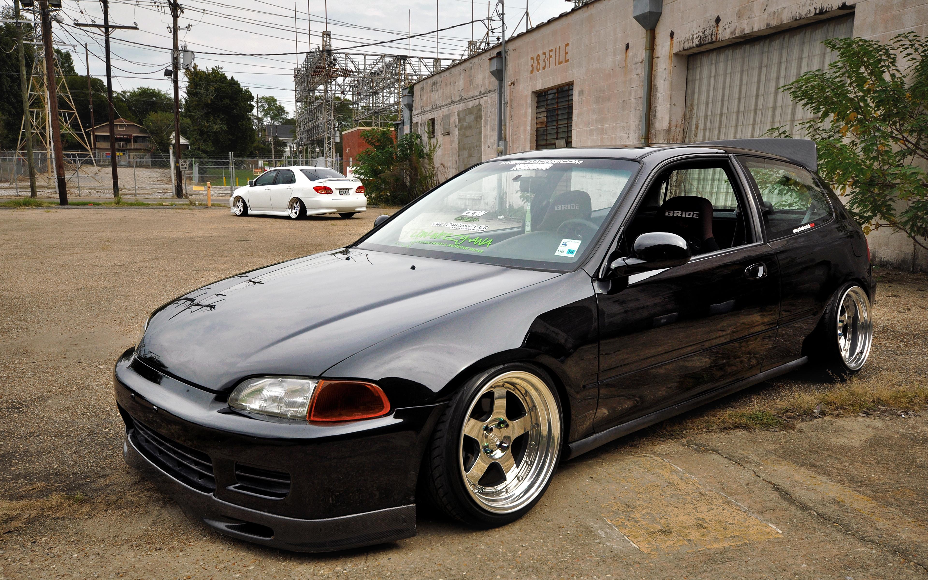 Photos Honda Civic eg6 Stance BellyScrapers Low CCW Black 3840x2400 3840x2400