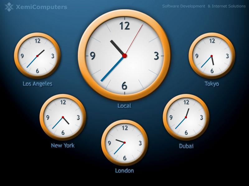 Time Zone Wallpaper Clocks
