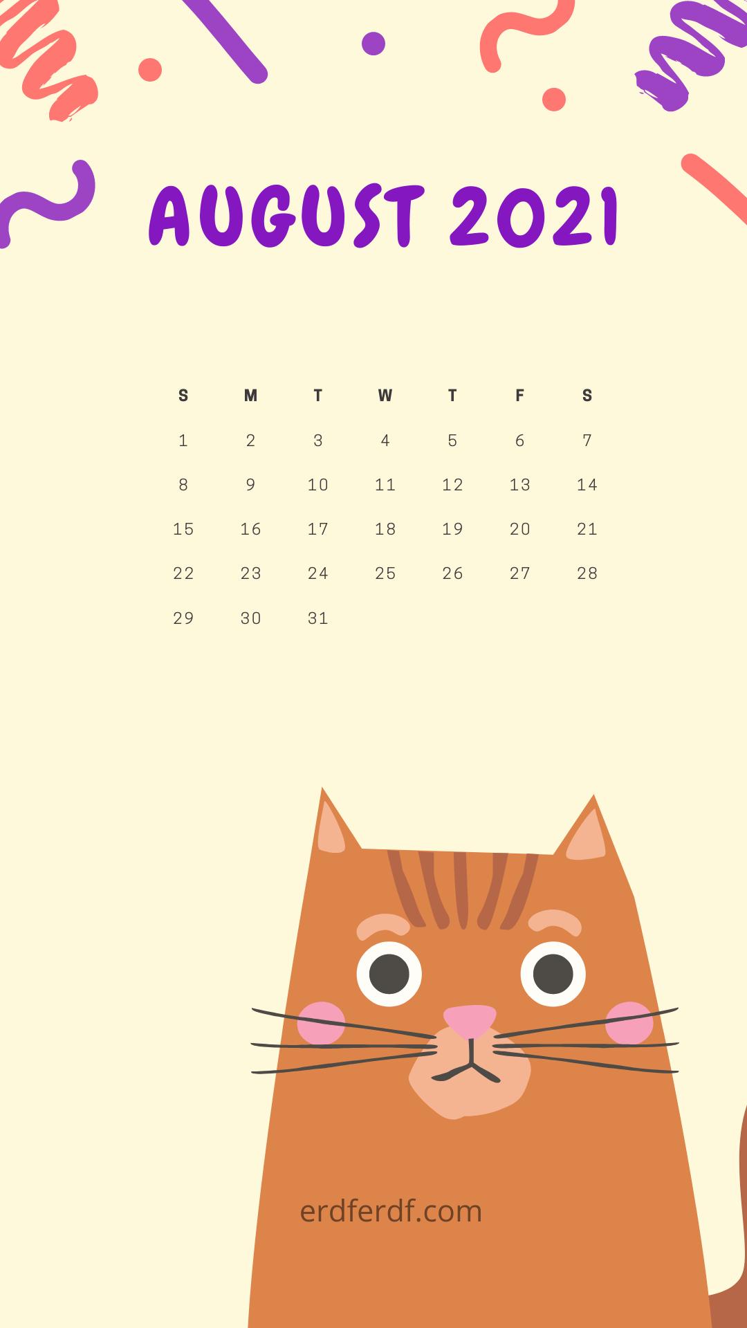 August 2021 Callendar Wallpaper Iphone in 2021 1080x1920