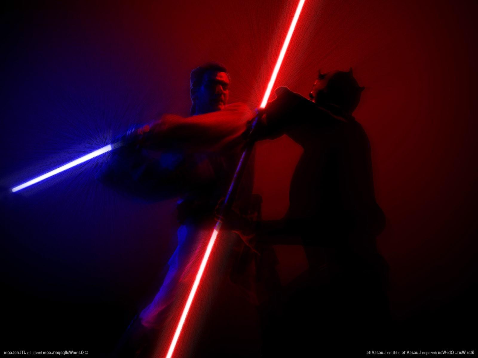 download Star Wars Darth Maul Lightsaber Obi Wan Kenobi 1600x1200