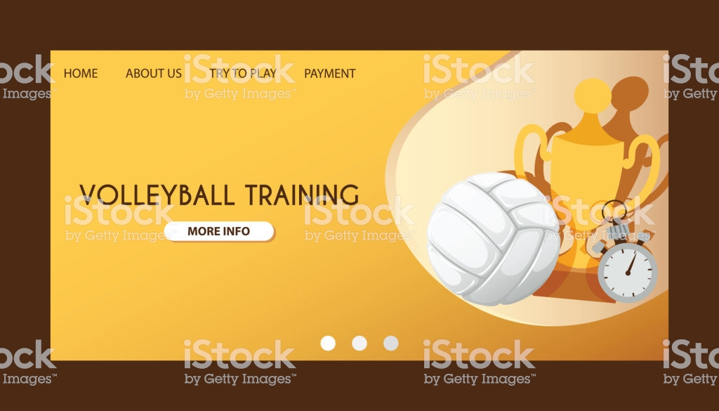 Ball Vector Landing Page Volleyball Competition Webpage Background 1024x585