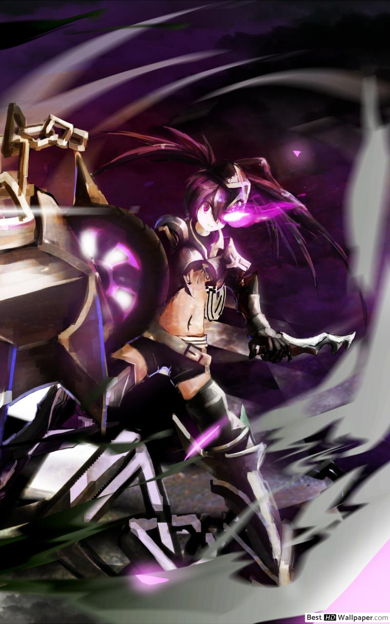 IBRS Black Rock Shooter HD wallpaper download 800x1280