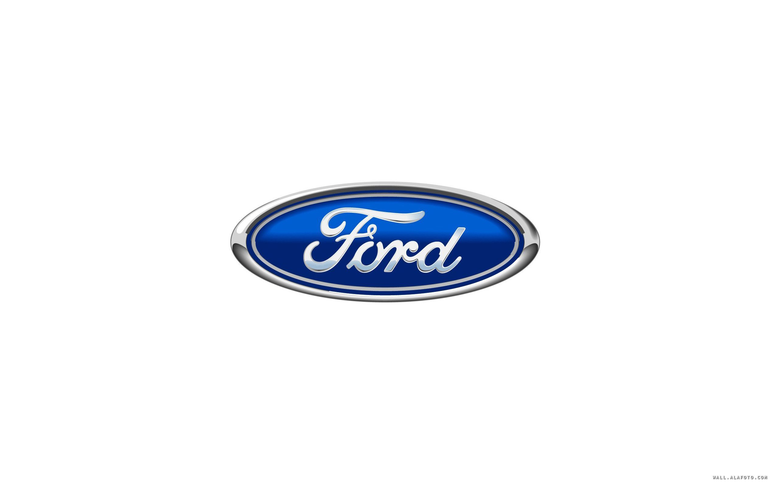 Ford Car Logo White Background HD Wallpaper Wi 3673 Wallpaper 2560x1600