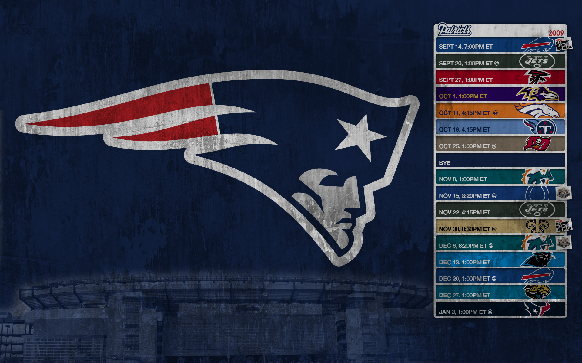 New England Patriots Screensaver Wallpaper