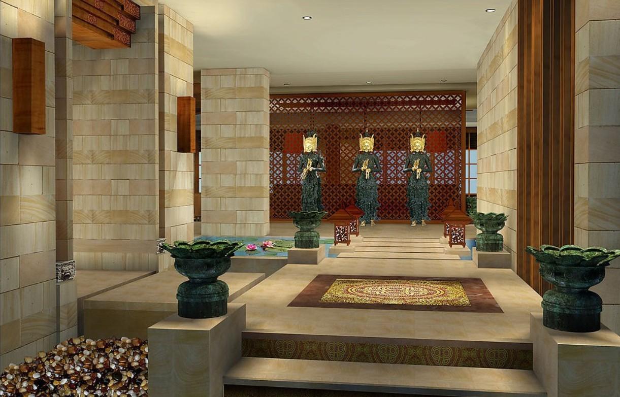 spa entrance decoration design european style spa interior design 1221x782