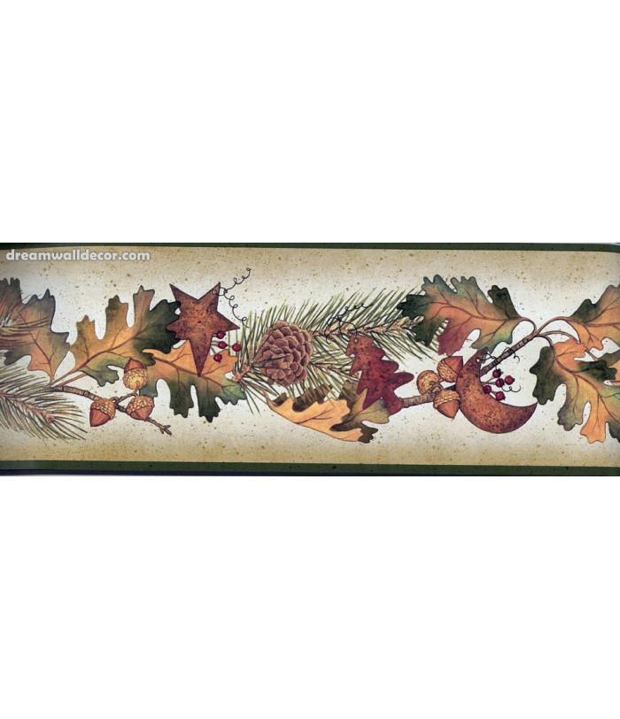 Running Fruit Plants Wallpaper Border 700x812