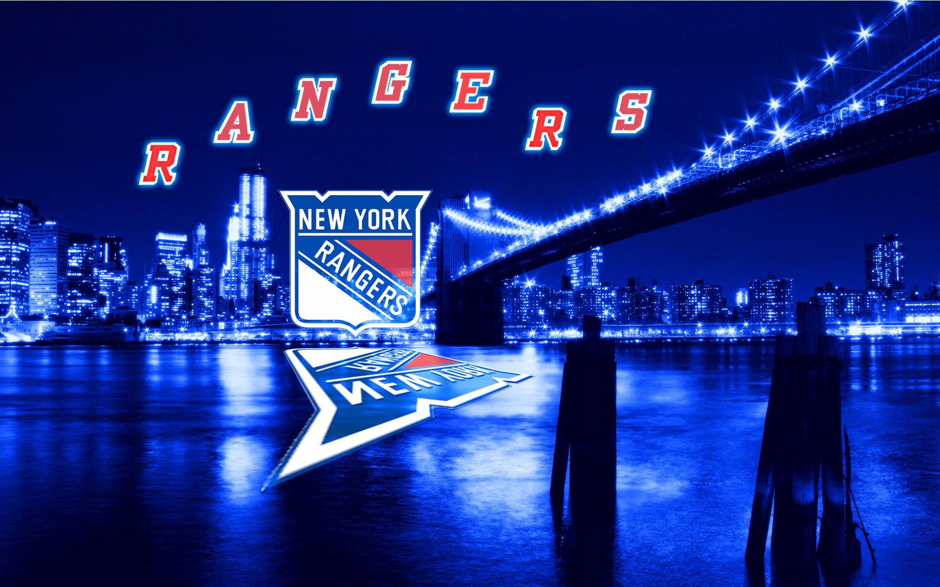 NHL New York Rangers Blue City Wallpaper by Realyze on 1920x1200