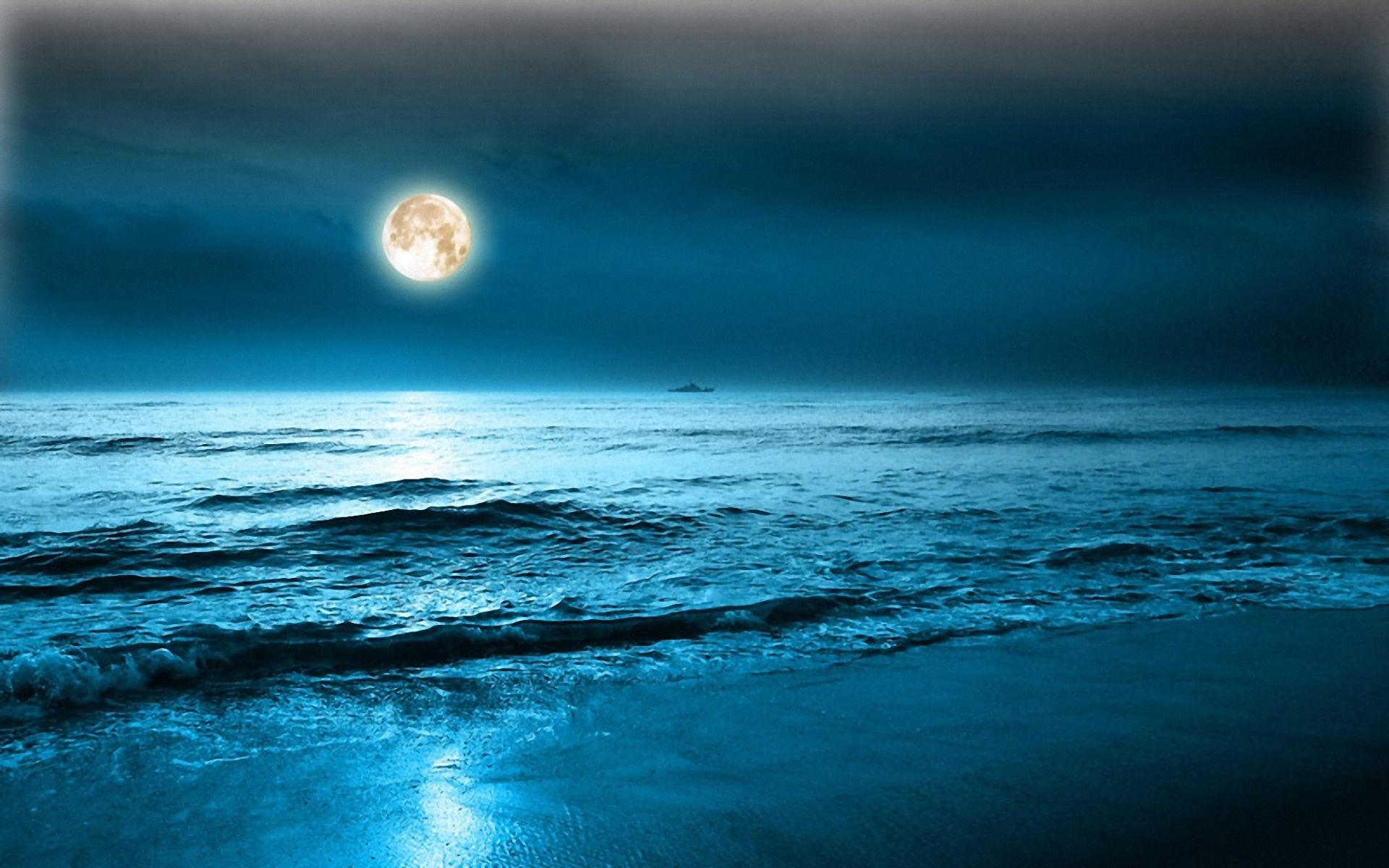 Moon Night Wallpaper HD Images One HD Wallpaper Pictures 1920x1200