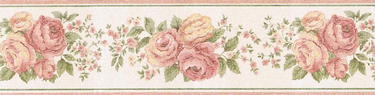 Details about VINTAGE MARKET FLOWERS ROSES Wallpaper Border VIN7327B 770x197