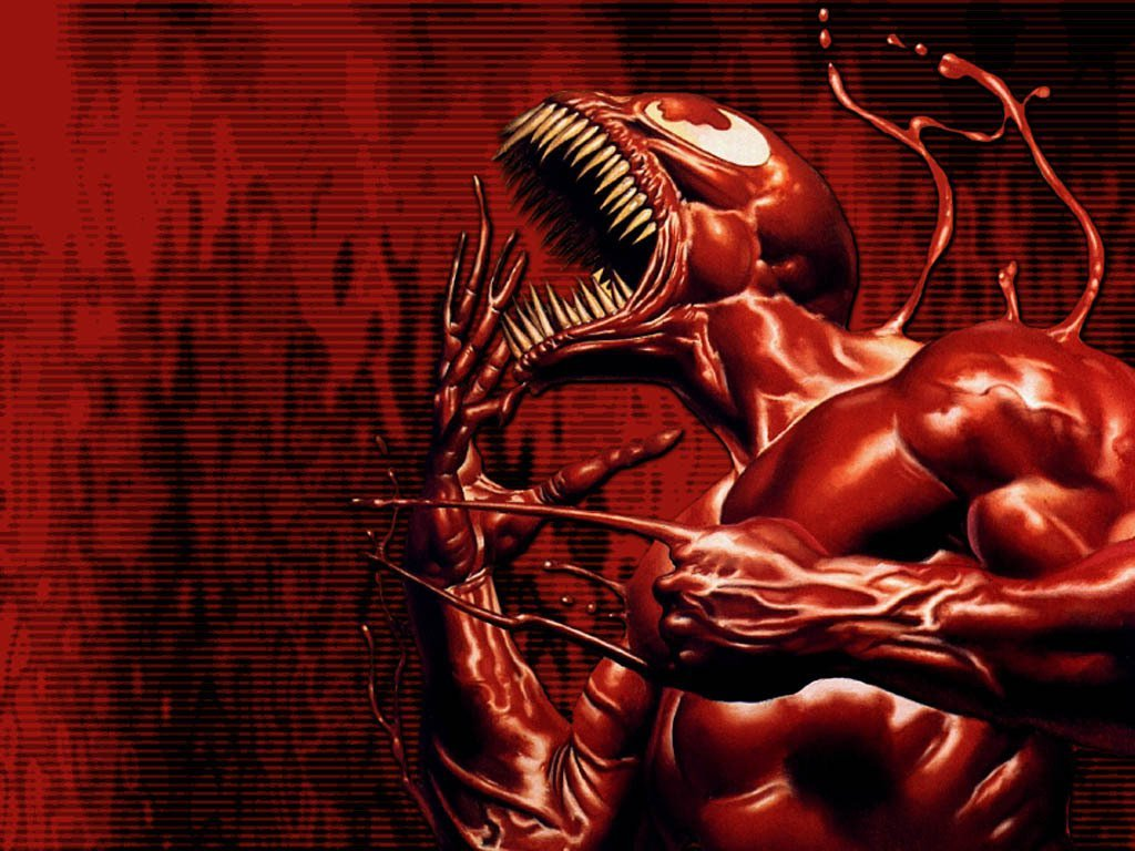 Fuentes de Informacin   Wallpaper HD Spiderman Venom Carnage 1024x768