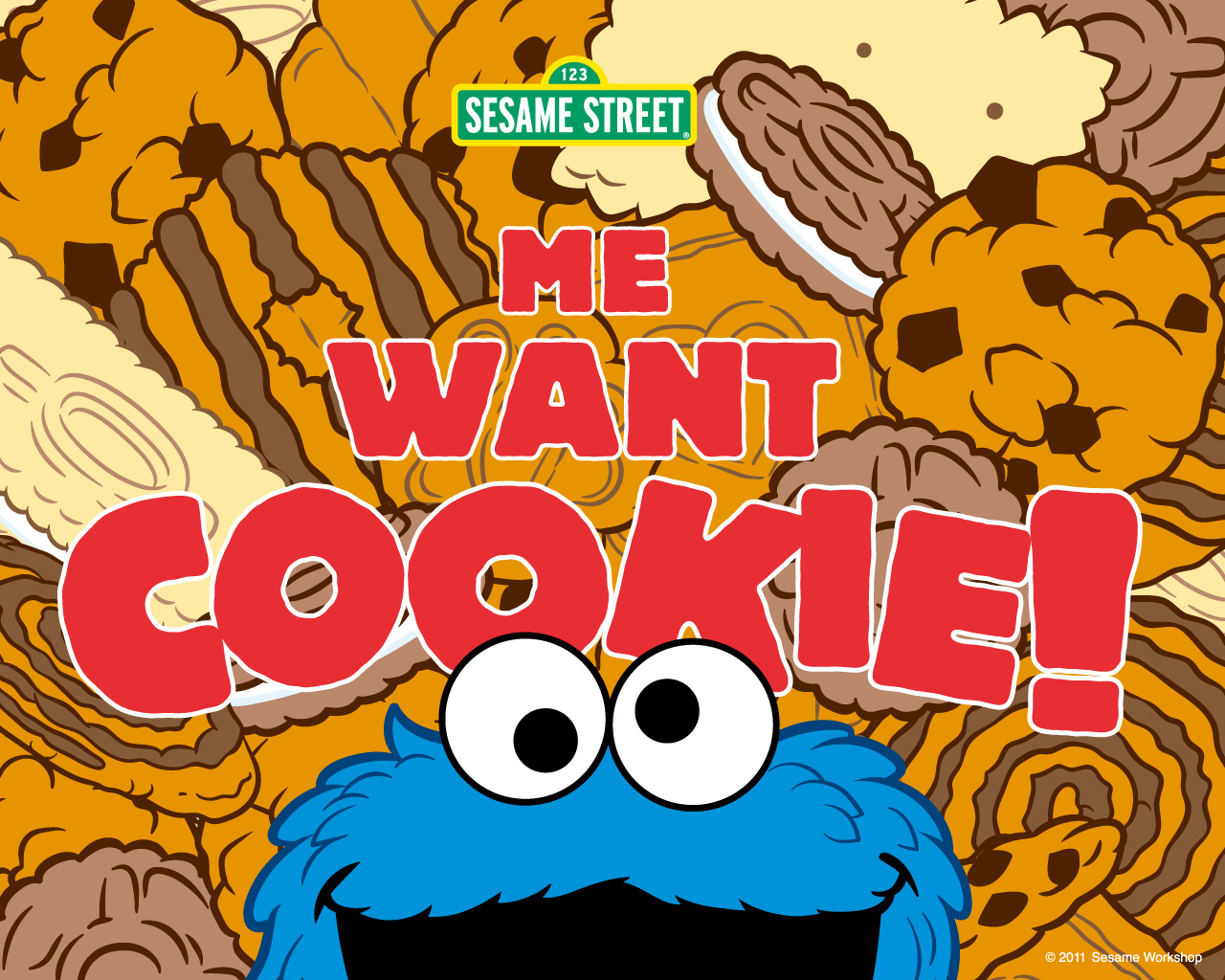 Sesame Street Cookie Monster 1280x1024