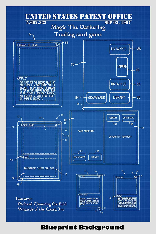 Amazoncom Magic The Gathering Patent Print Art Poster Choose 1000x1500