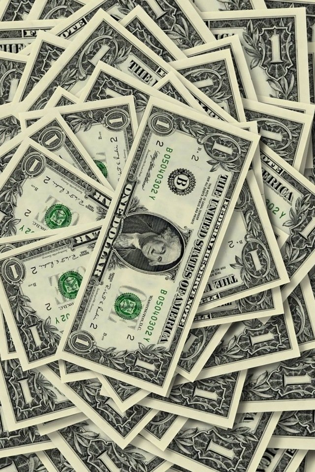 Cool iPhone Wallpapers Money   USA Dollars 640x960