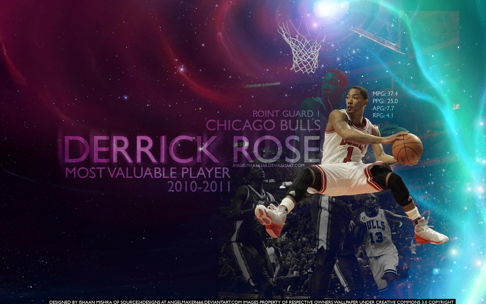 derrick rose mvp wallpaper by angelmaker666 d3egkp9jpg 1920x1200