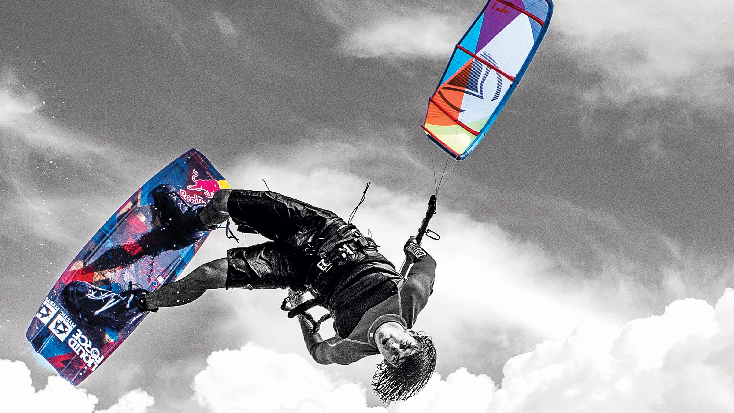 Download Wake style kiteboarding wallpaper Cristophe Tack 2400x1350