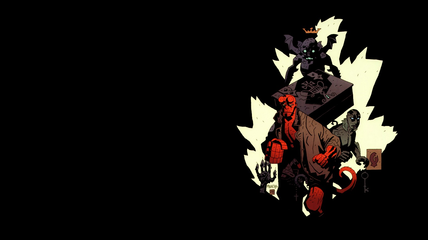 Wallpaper Abyss Explore the Collection Hellboy Comics Hellboy 409275 1366x768