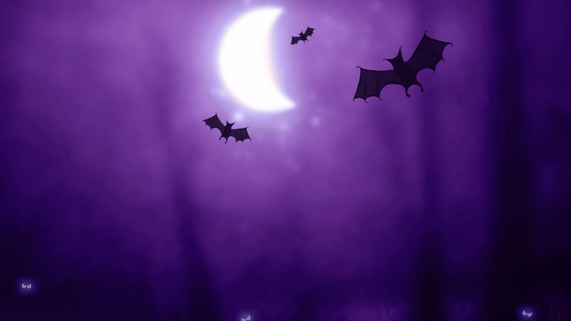 Bats in the purple night wallpaper 10848 1920x1080