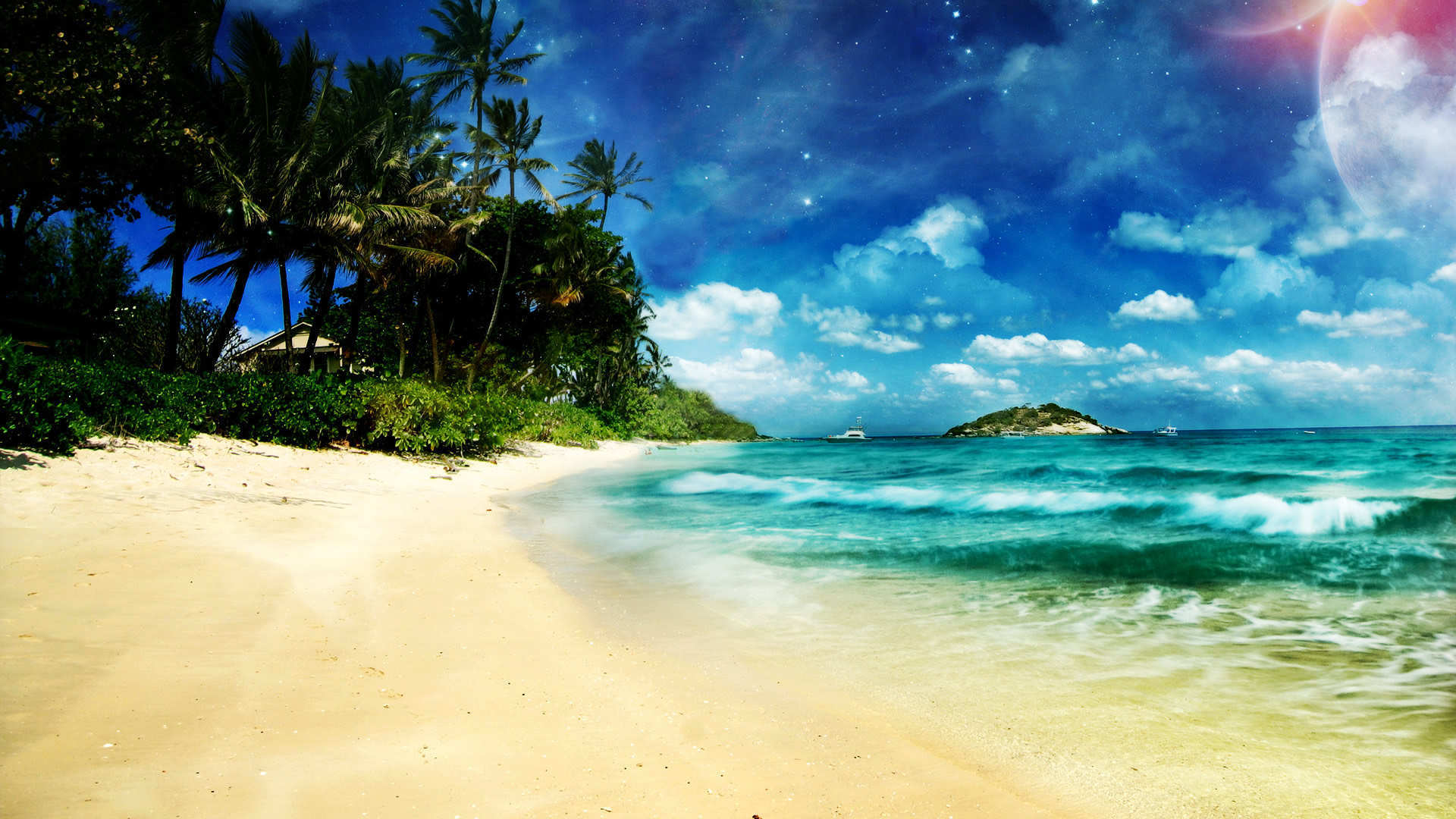 Download Heaven beach Wallpaper Wallpapers 1920x1080