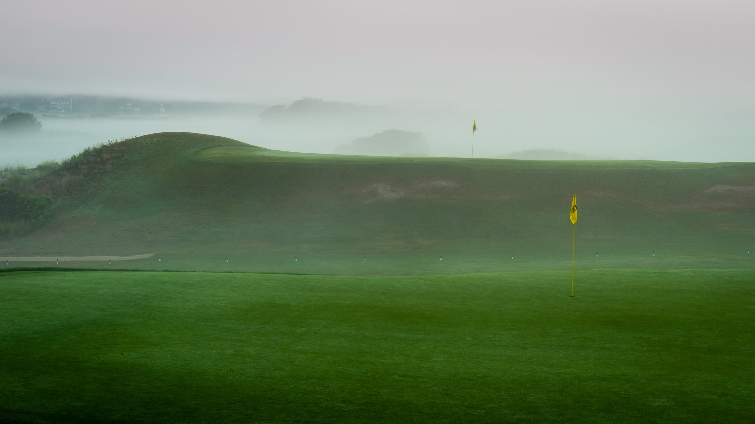 Name High resolution desktop wallpaper of field photo of fog Golf 2560x1440