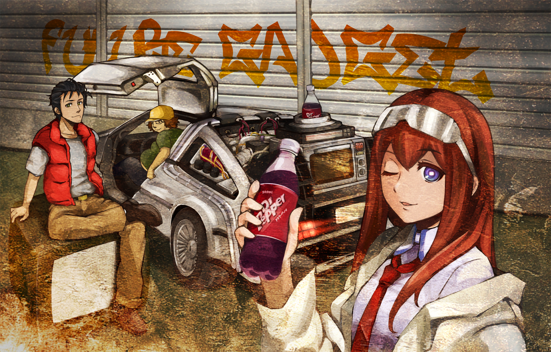 Steins Gate Anime Okabe Rintarou Makise Kurisu 2814076png 1500 1500x960