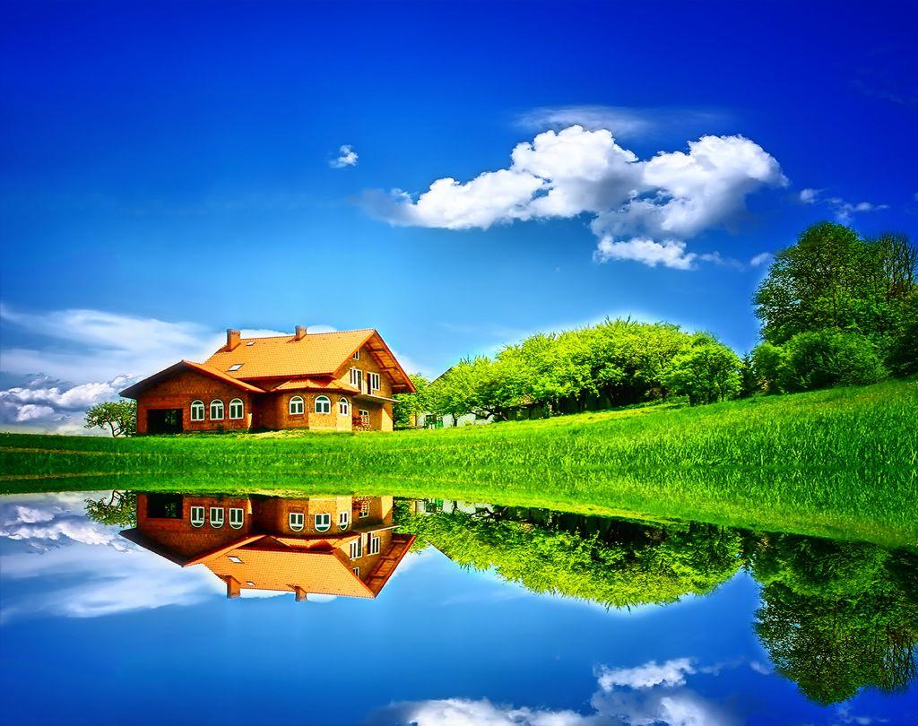 lake and grassland wallpaper Wallpapers HD Home wallpaper 1024x810