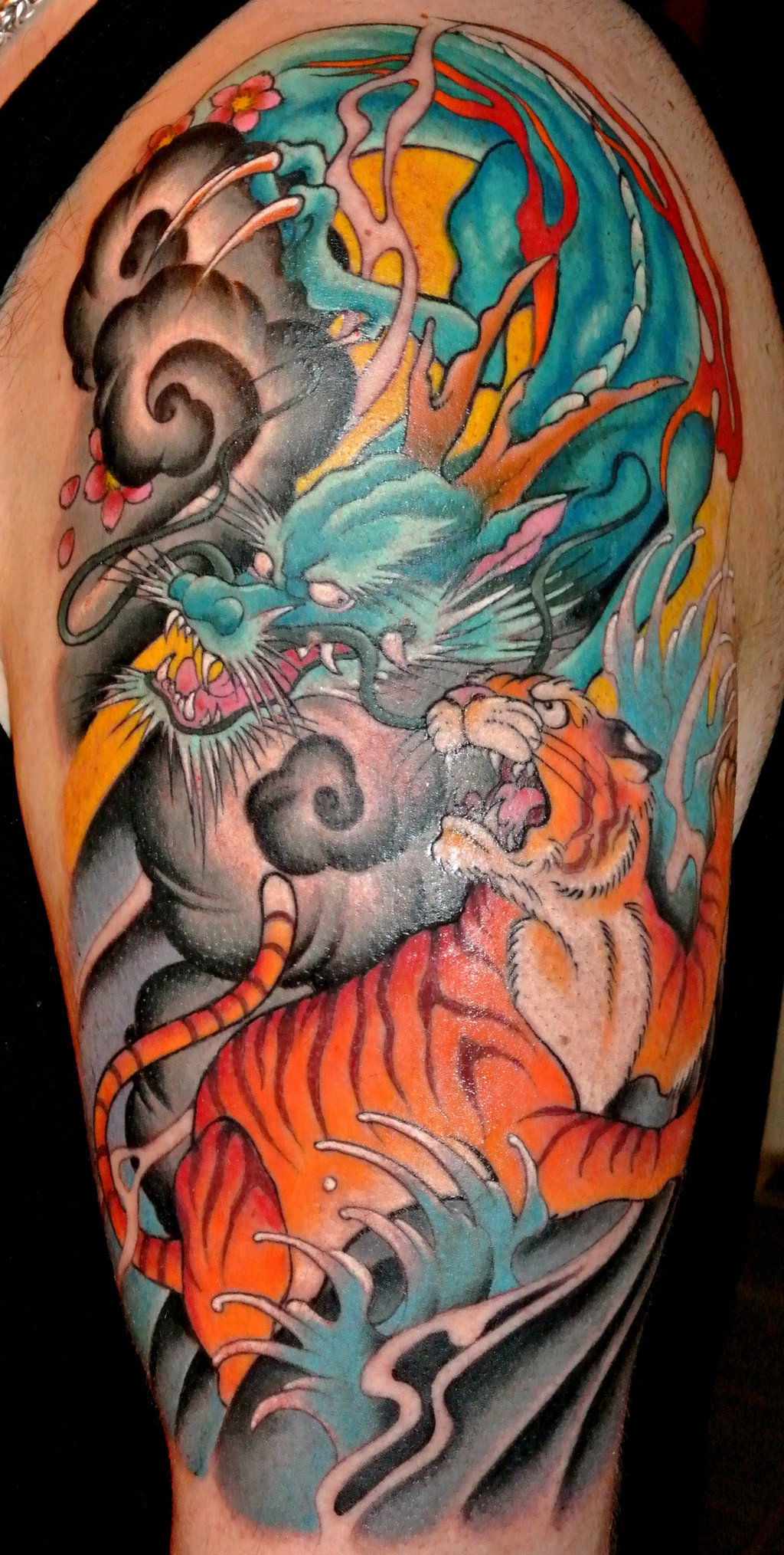 Dragons Tigers Tattoos 1024x2029