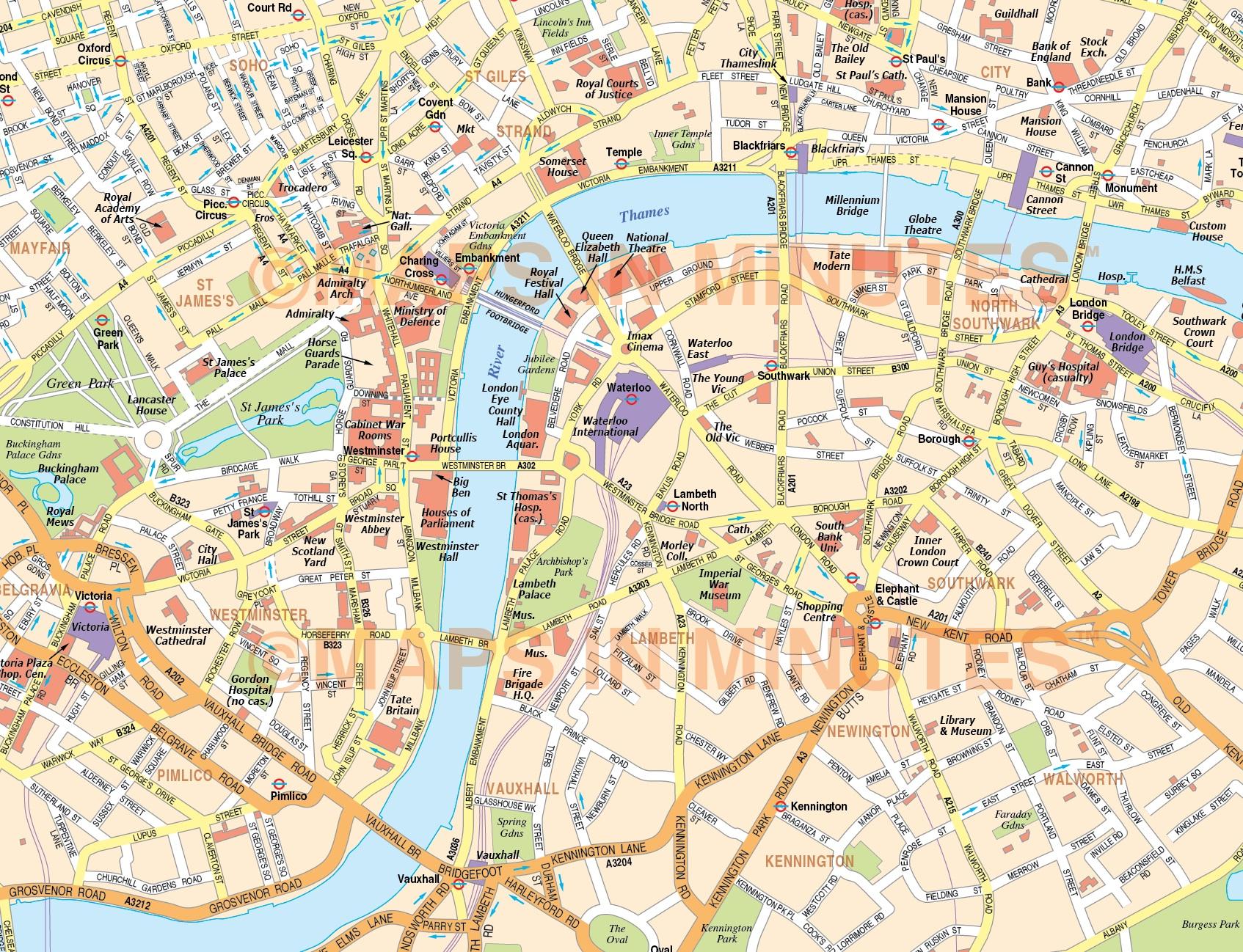 Download Map London.Top 10 Punto Medio Noticias London City Map Free Download