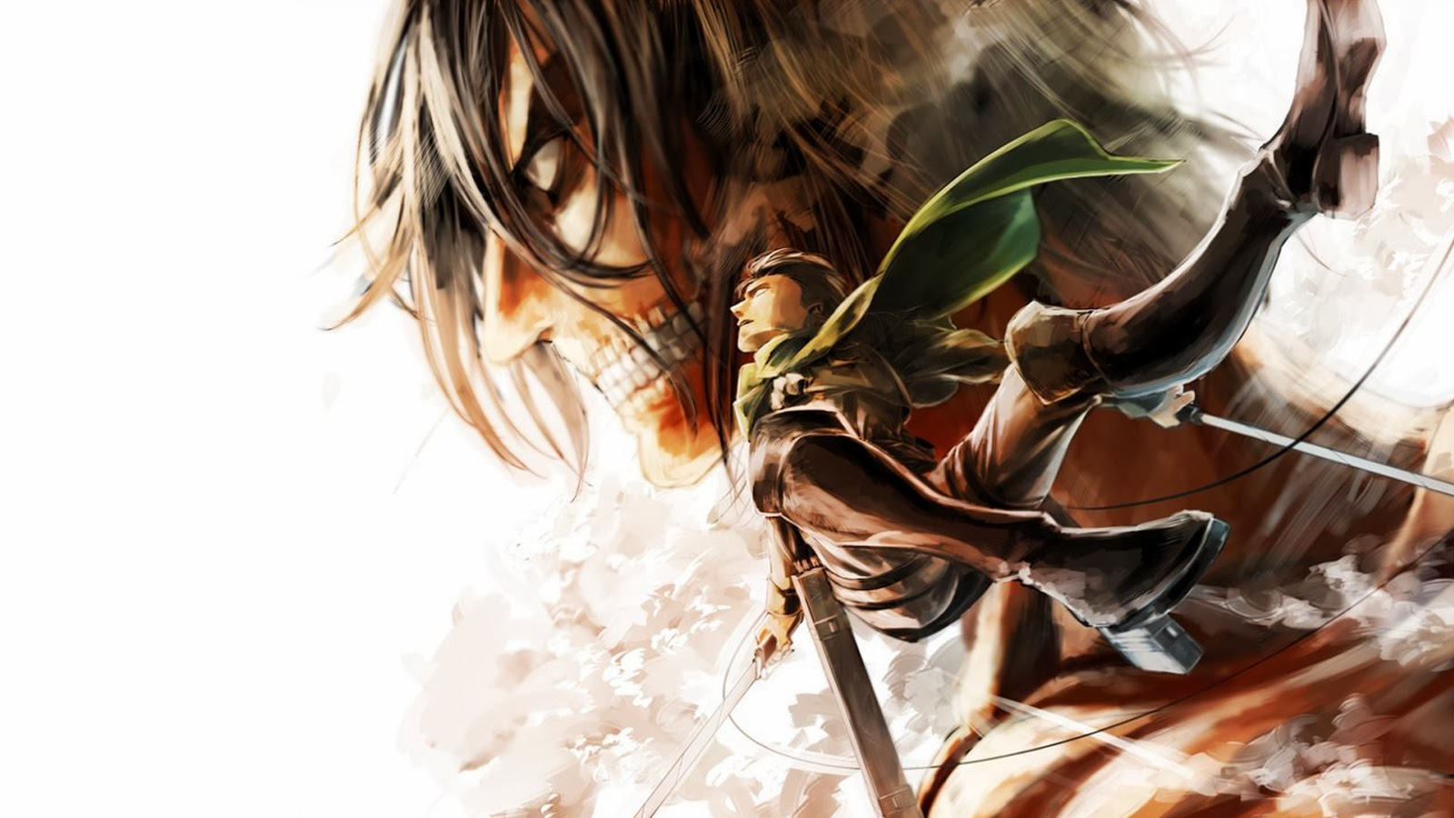 levi rogue titan eren jaeger yeager attack on titan shingeki no kyojin 1600x900