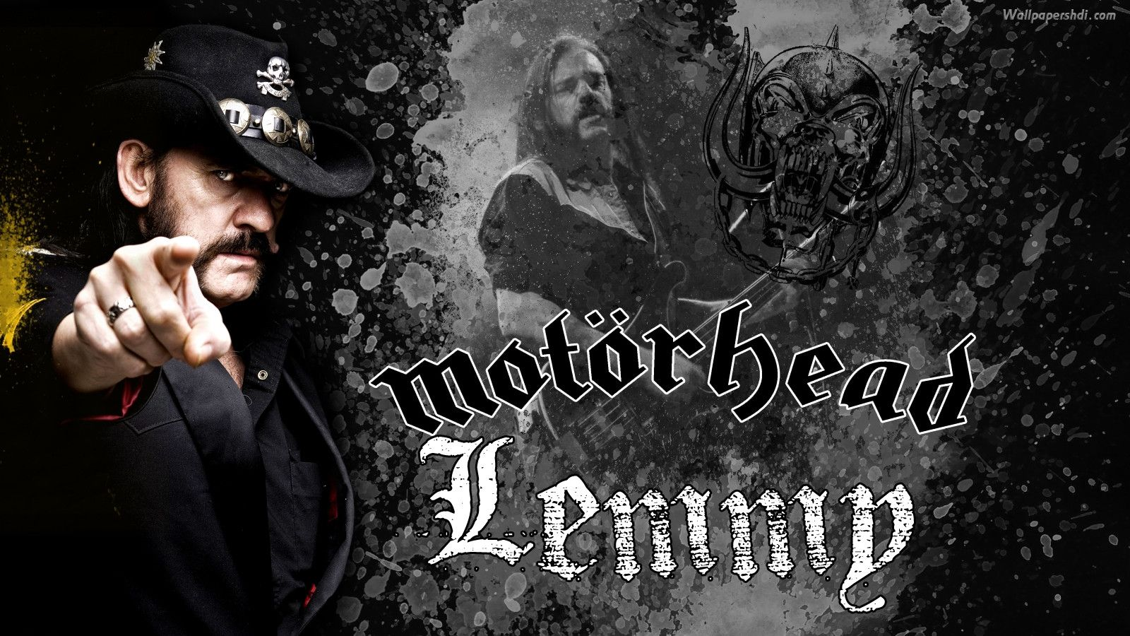 Lemmy Kilmister Rock Music Motorhead Wallpaper Hd: Free Motorhead Wallpaper HD