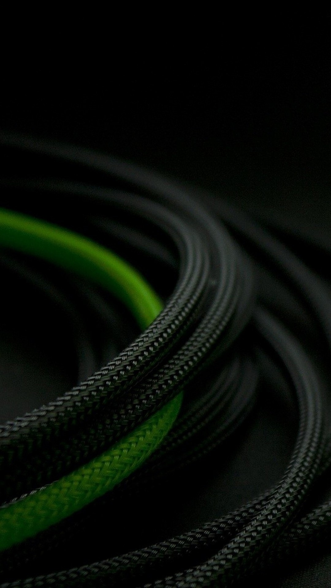 Black and Green Rope 3D iPhone 6 iPhone 6 Plus Wallpaper 1080x1920