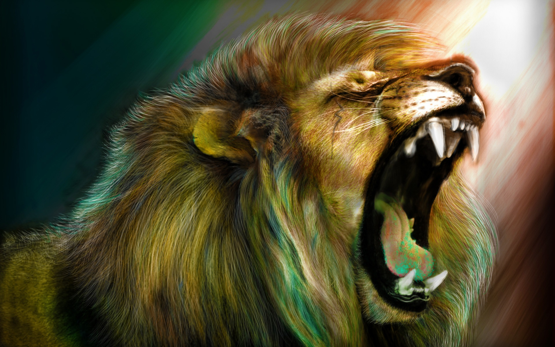 Roaring Lion Wallpaper - WallpaperSafari - photo#23